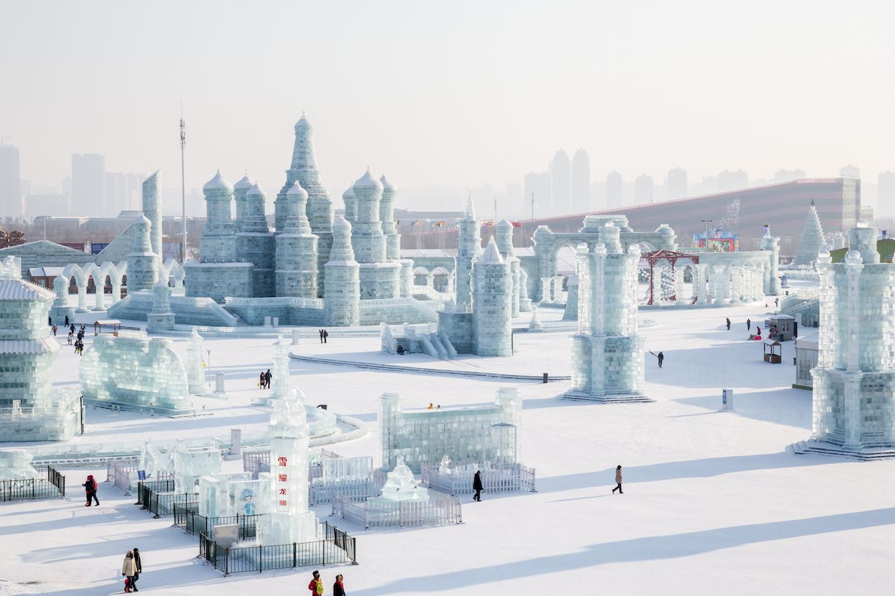 Ice city at the ice festival in Harbin