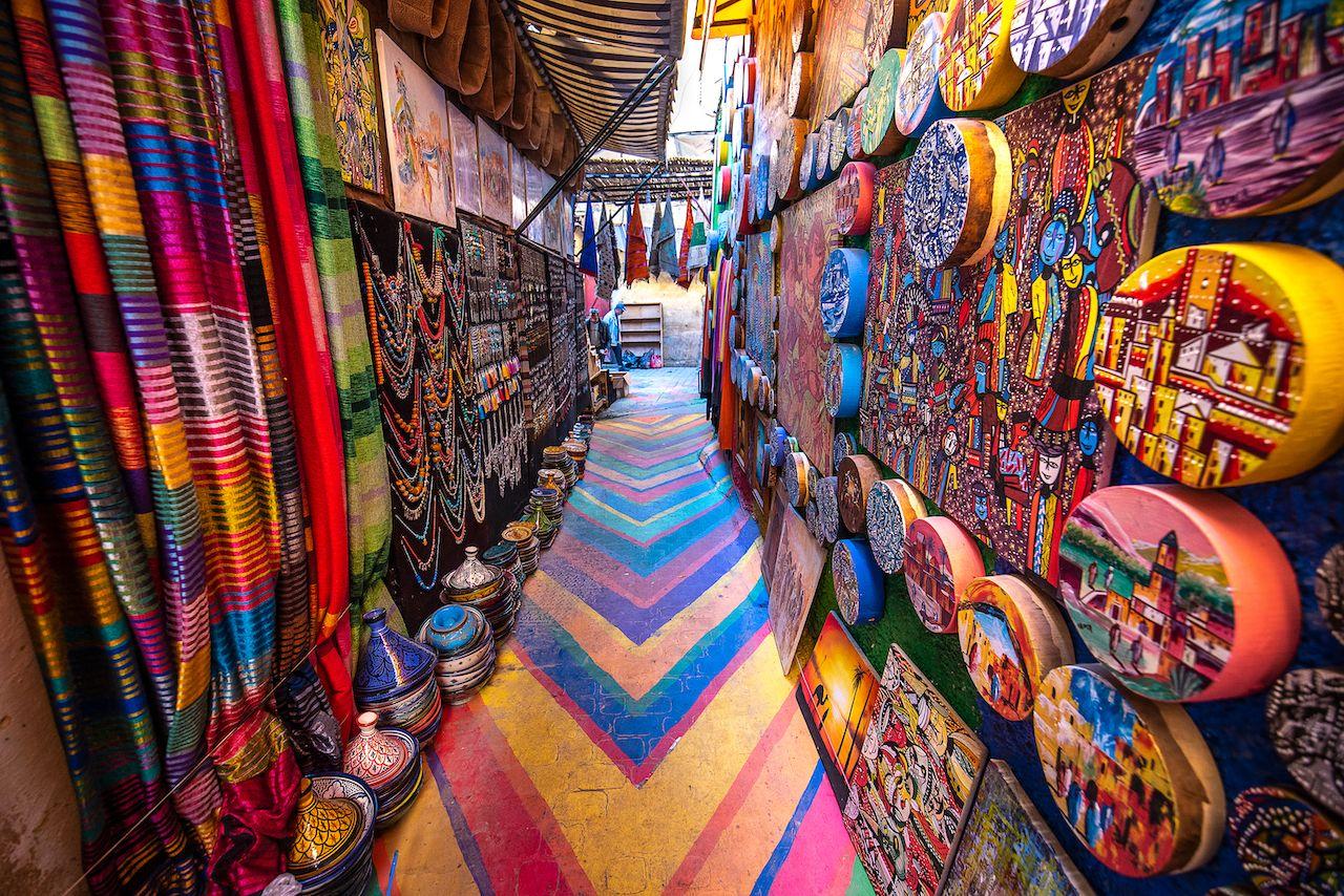 Jamaa el Fna market in old Medina, Marrakesh
