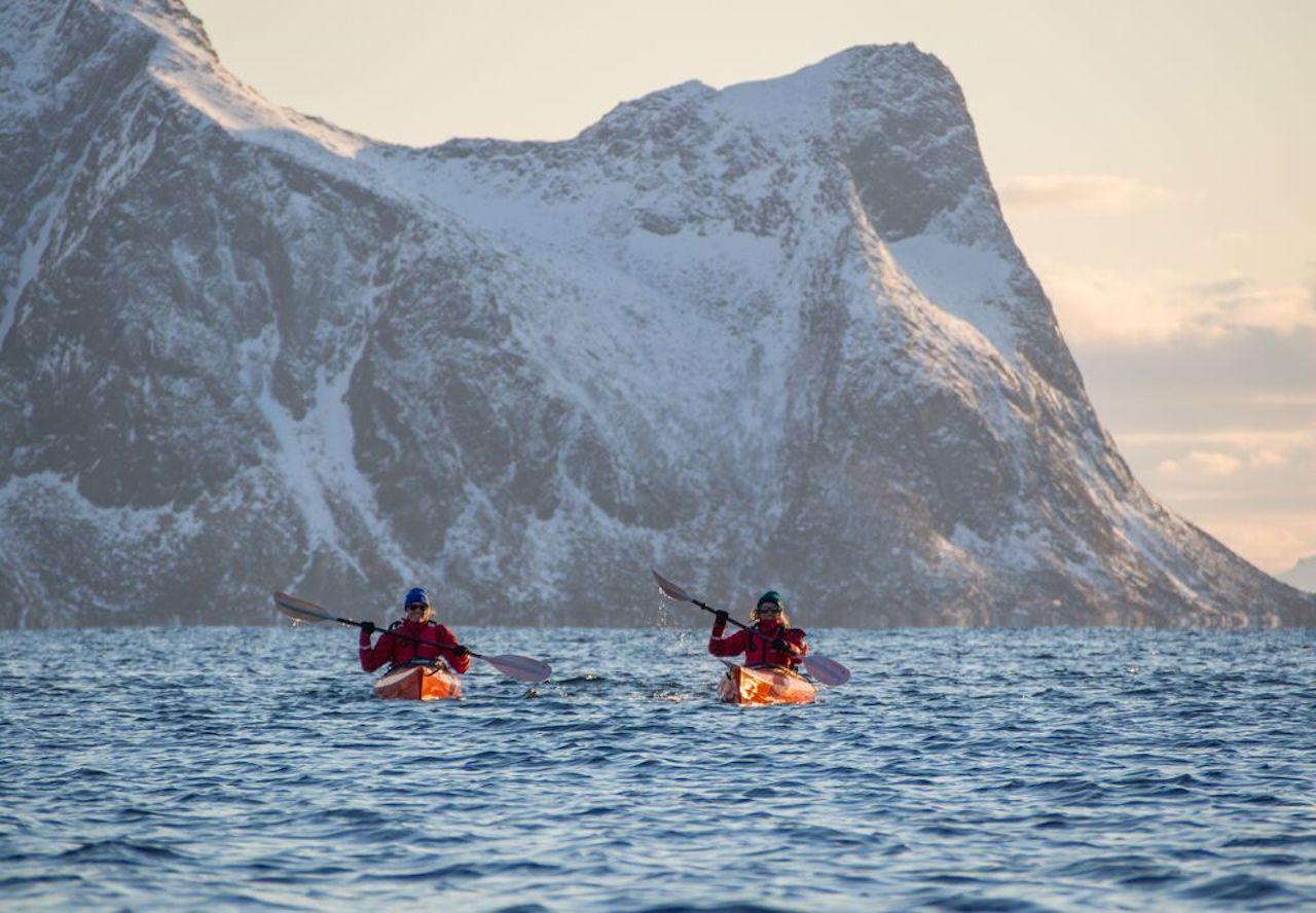 Kayaking on Senja Island