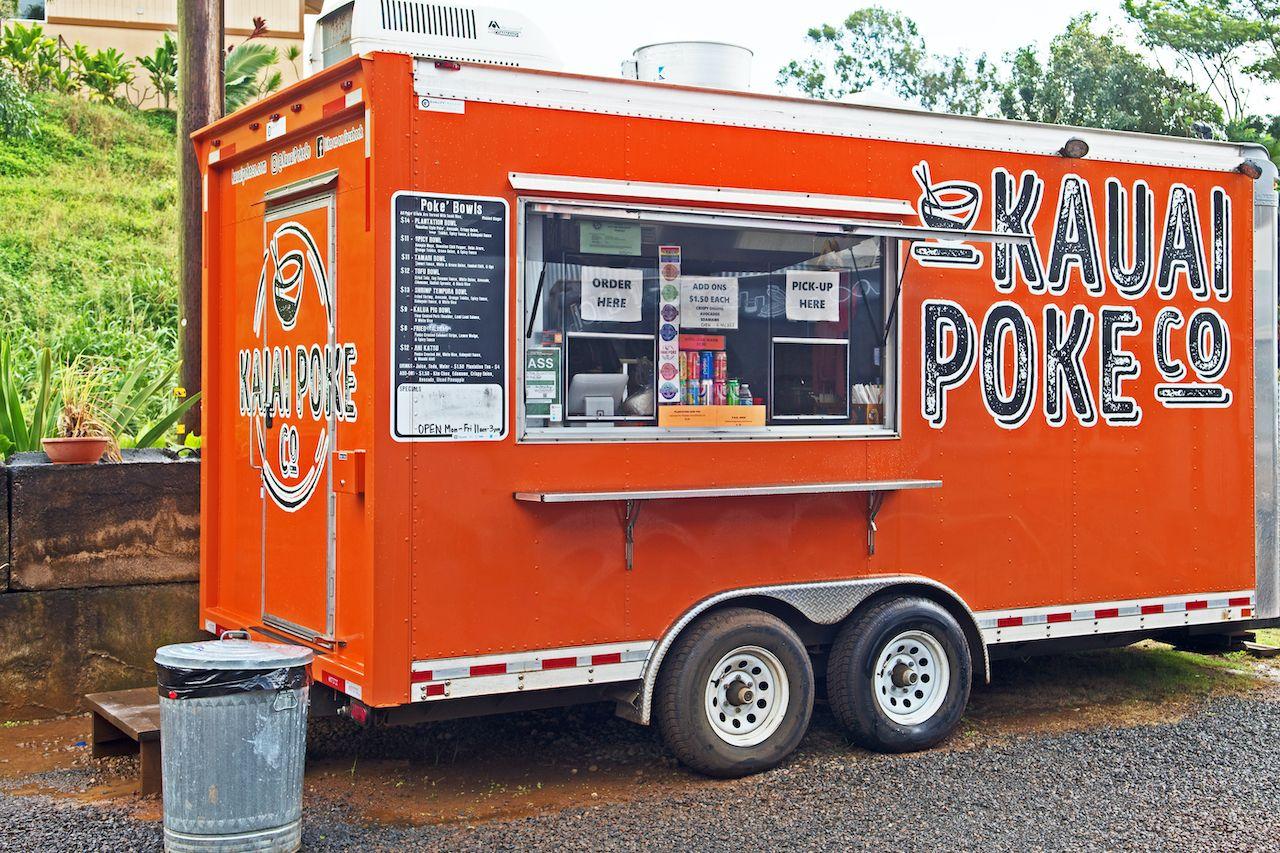 Poke food truck in Hawaii