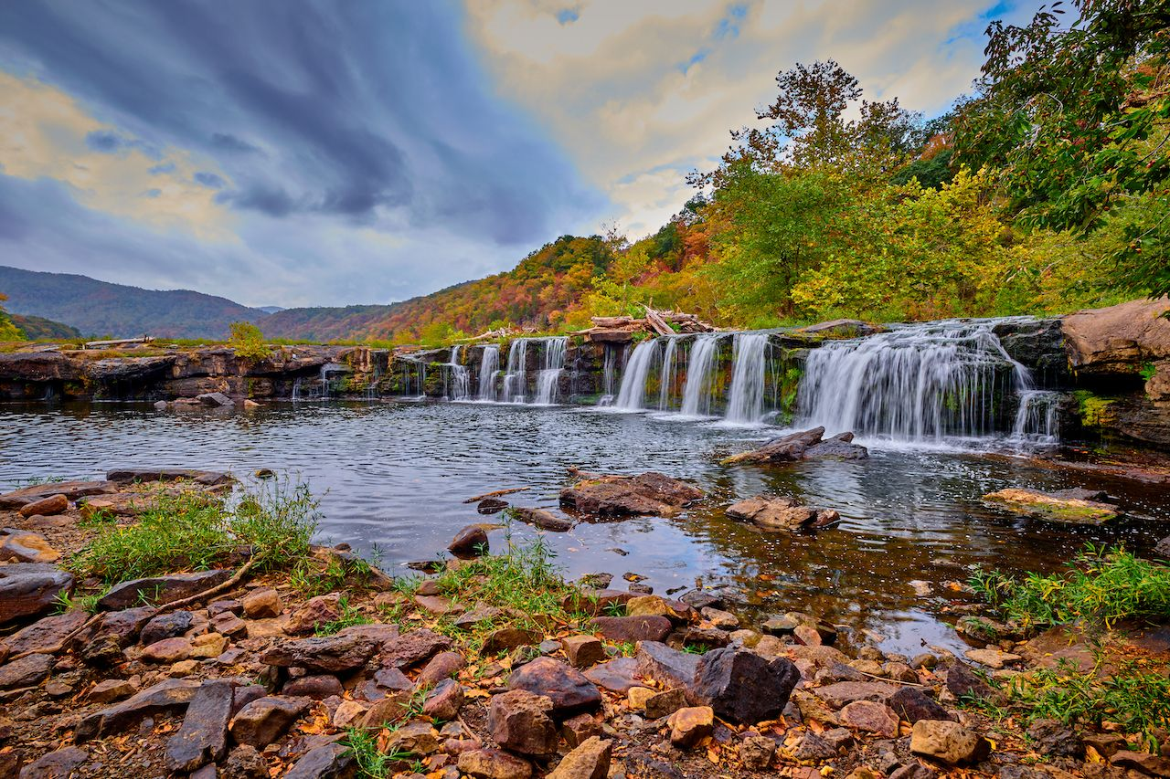 Sandstone Falls in West Virginia