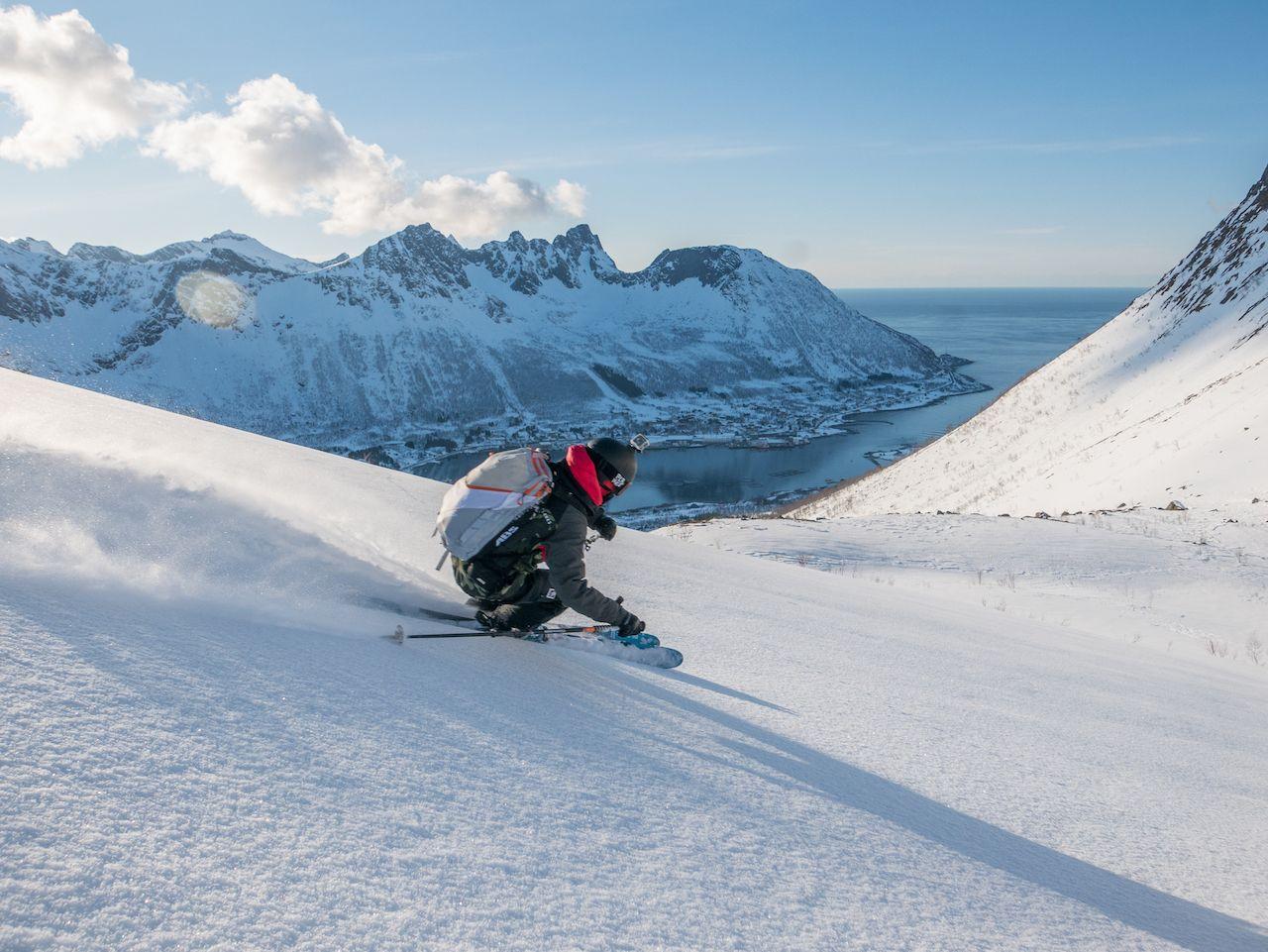 Ski touring on Senja Island