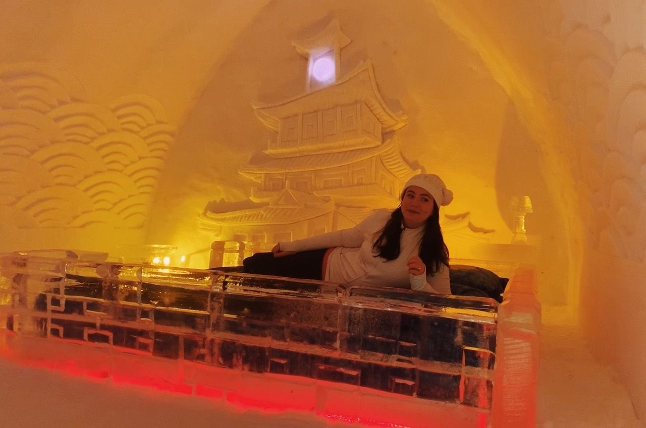 Ice hotel in Quebec