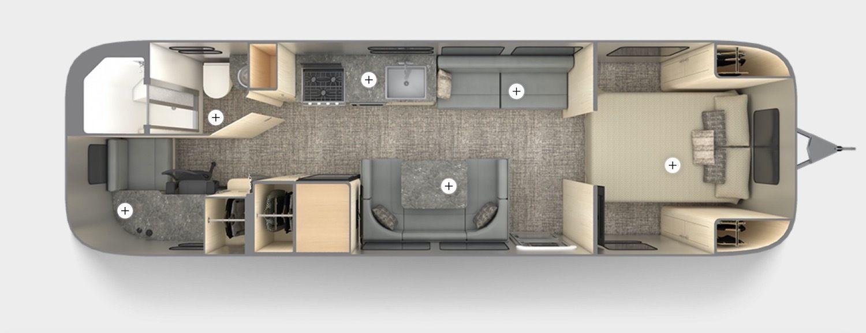 Airstream floor plan