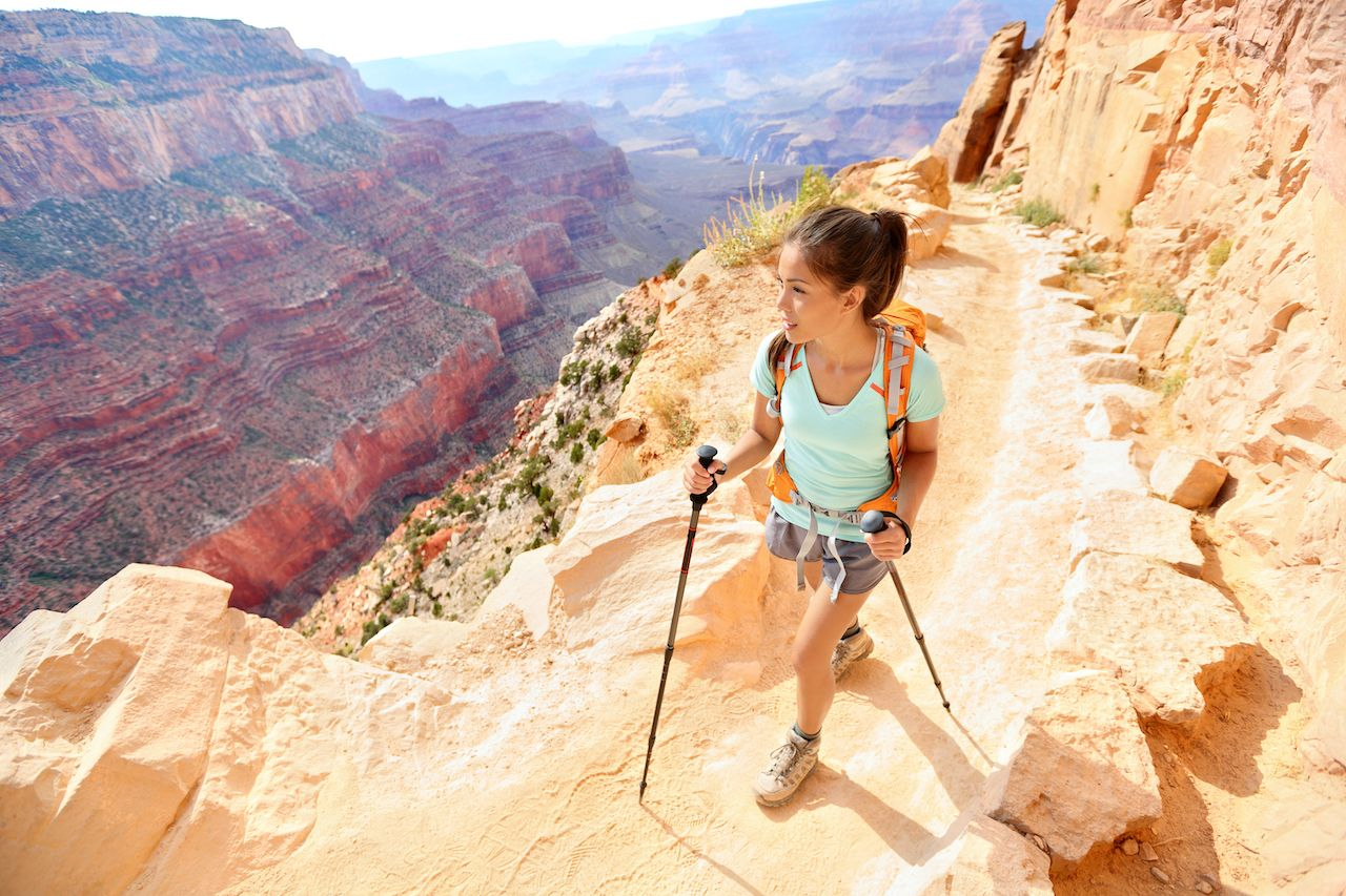 Hiker in the Grand Canyon, national scenic trail