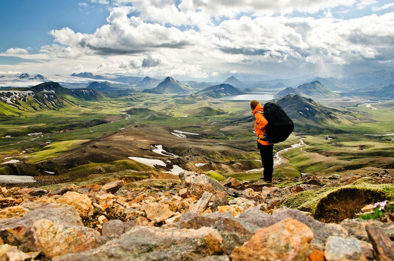 Hiking in a jurassic landscape