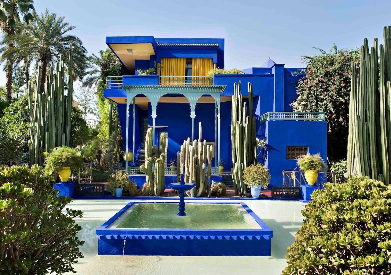 Jardin Majorelle fountain, villa and garden