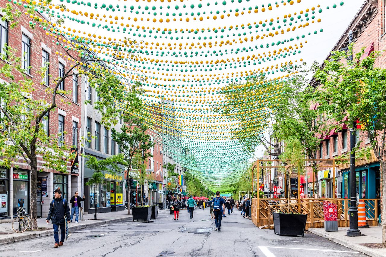 Sainte Catherine street in Montreal's Gay Village