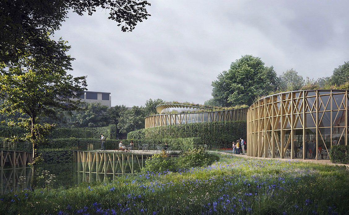 Hands Christian Andersen museum garden rendering