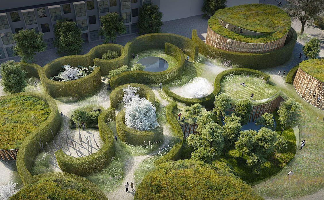 Hans Christian Andersen museum garden rendering