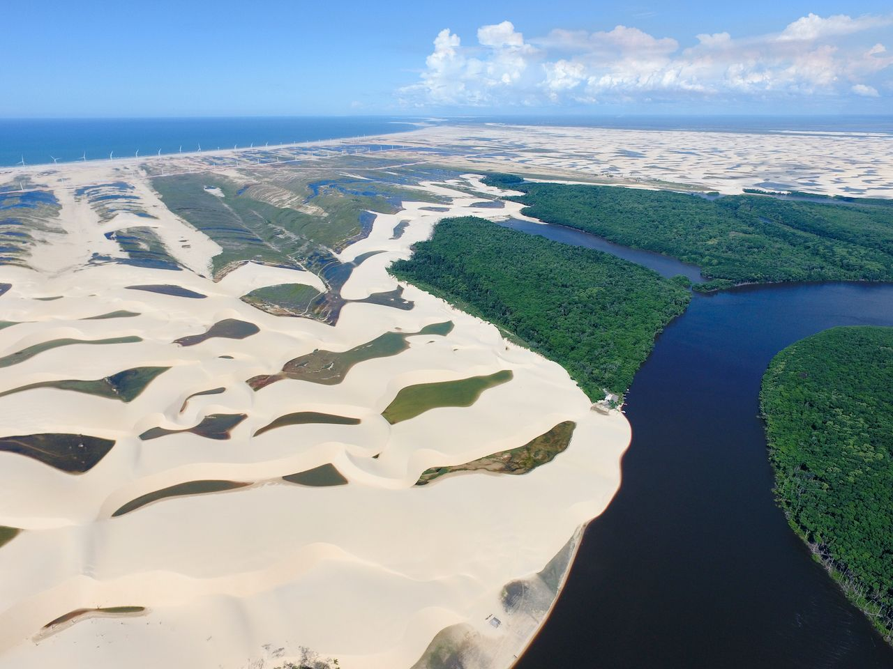 River in Lencois Maranheses National Park