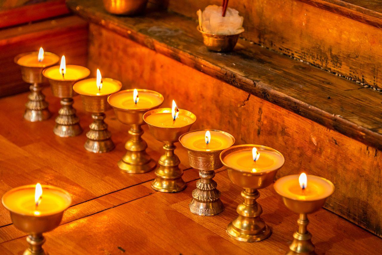 Tibetan new year candles