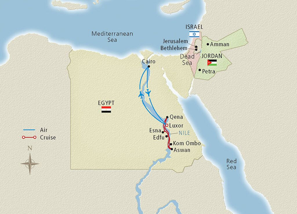 Viking Cruise Sailing the Nile itinerary