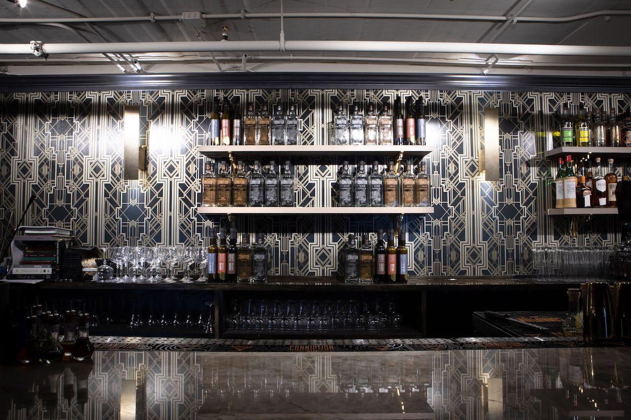 Back bar at Corpse Reviver Durham