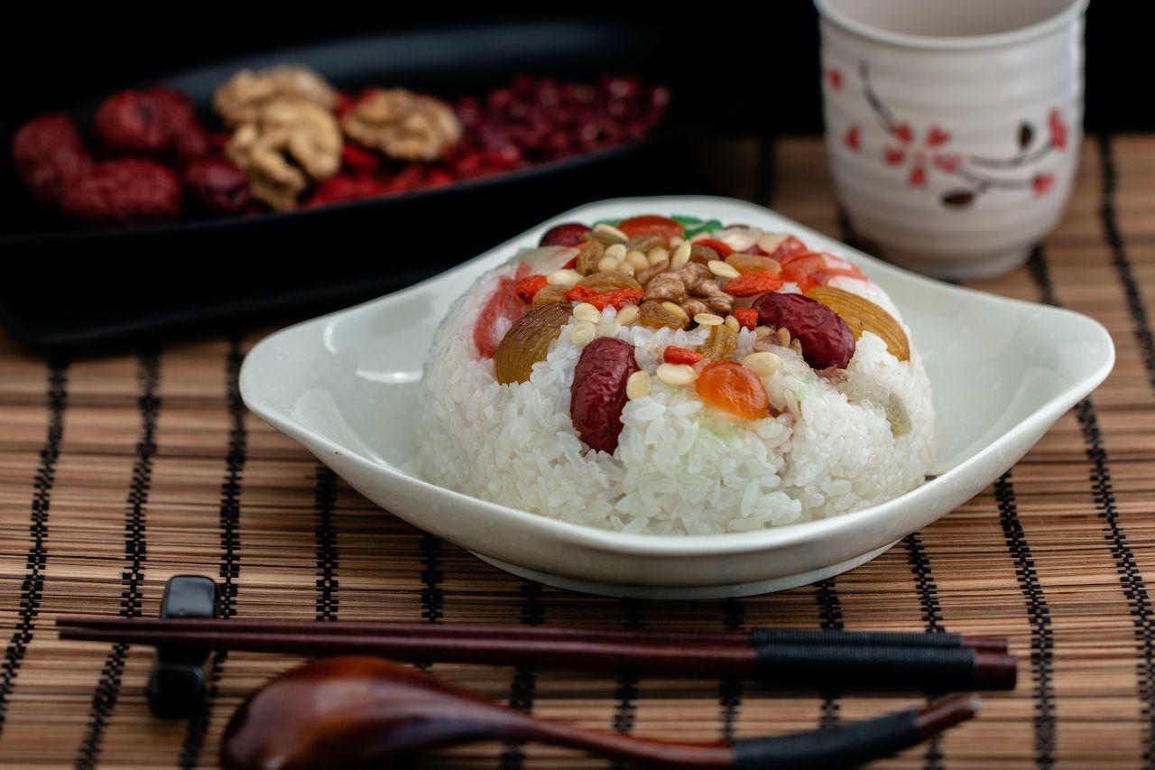 Eight treasure rice pudding