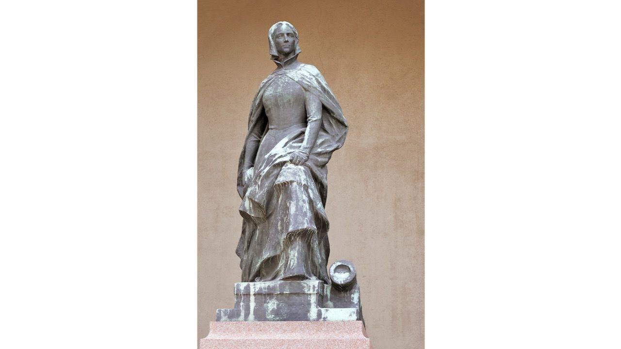 A statue of Christina Gyllenstierna