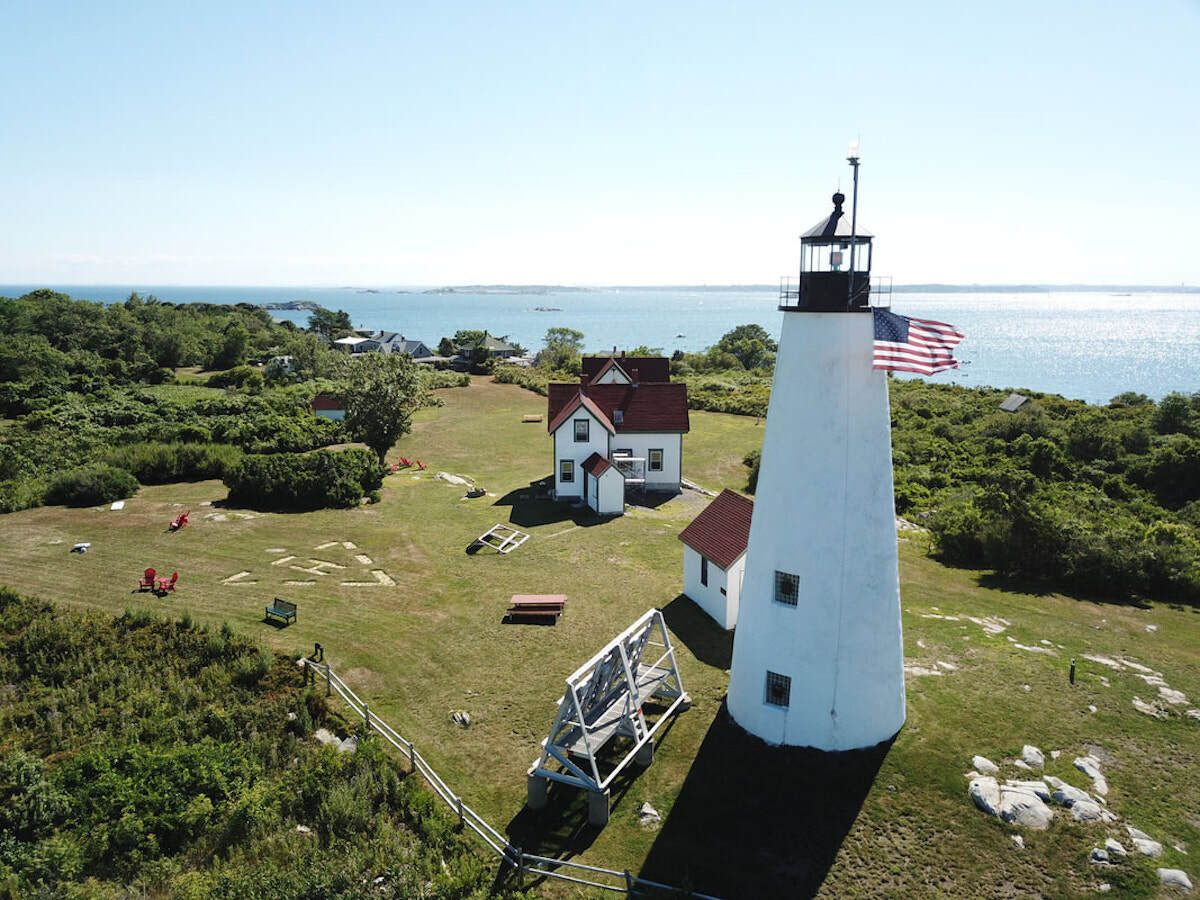 Bakers Island Lighthouse, MA, lighthouses to stay the night in