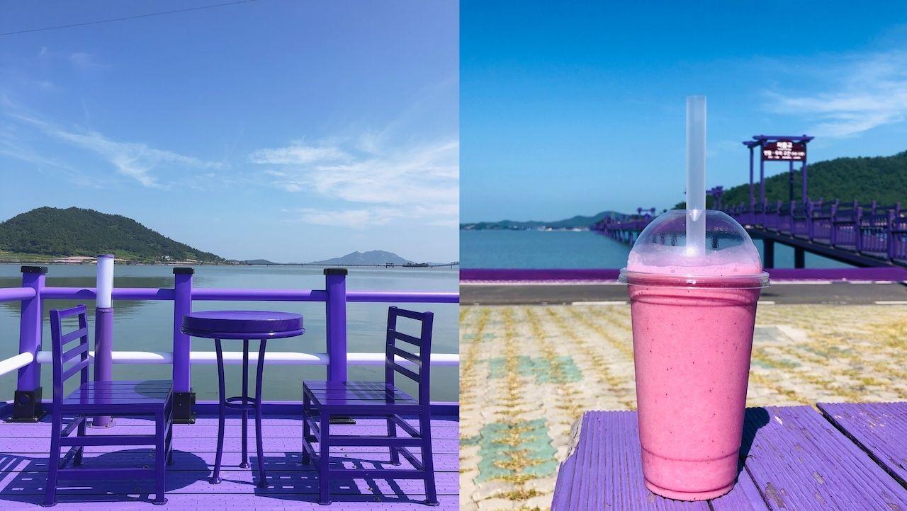 Cafe on the Purple Islands of South Korea