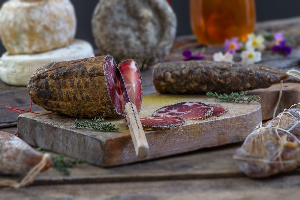 Corsican charcuterie, regional food France