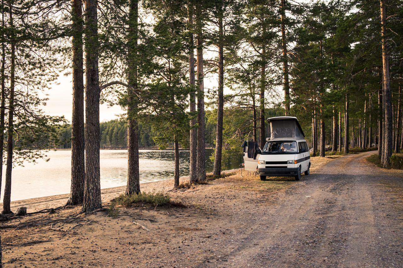 Lakeside campervan