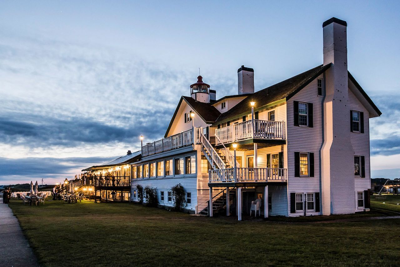 Lighthouse Inn in New England to stay the night