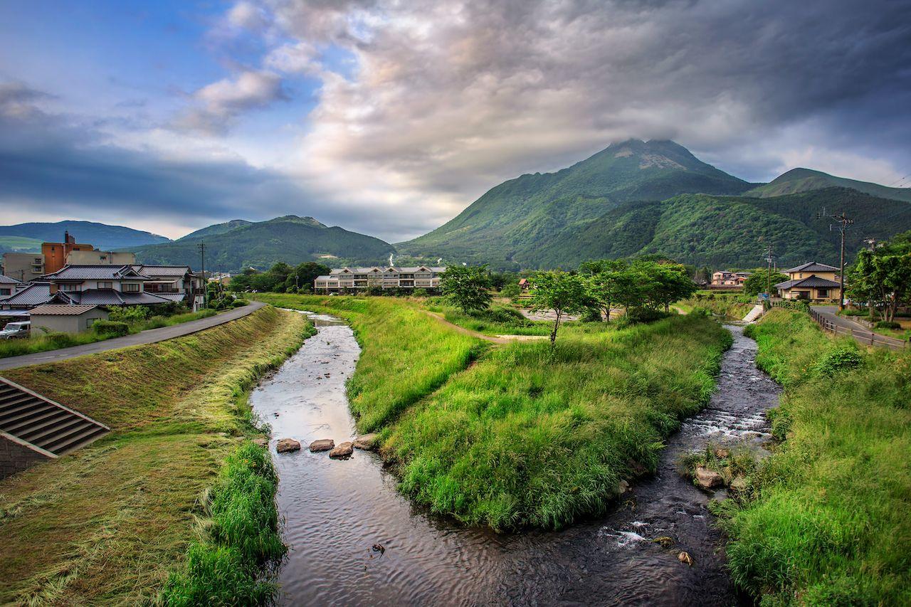 Oita river at the edge of Yufuin