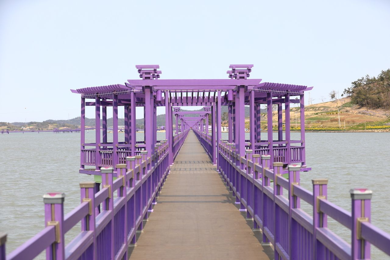 Purple bridge connecting the Purple Islands