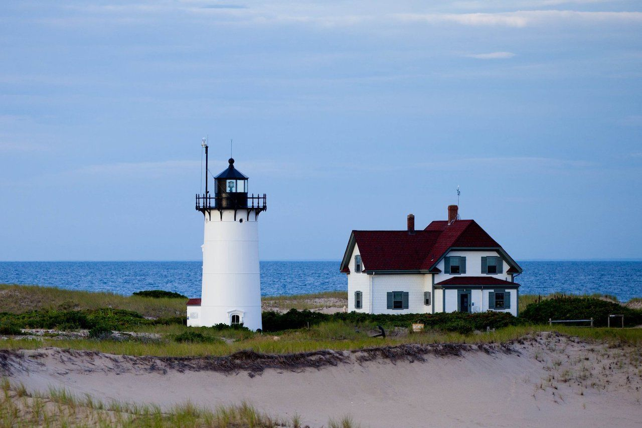 Race Point Lighthouse in New England to stay the night