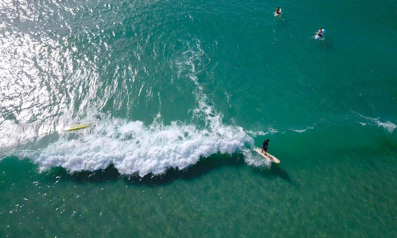 Surfer in Wilmington North Carolina