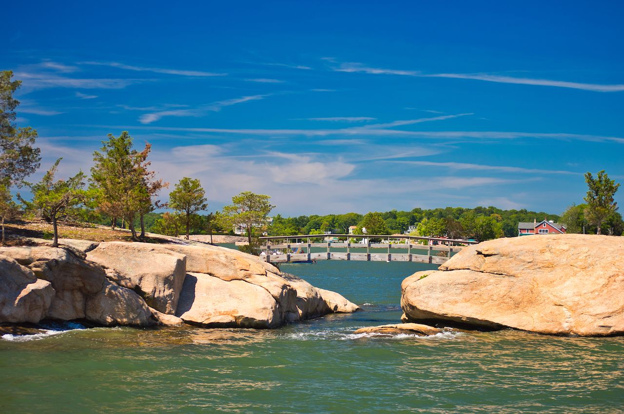 Thimble Island Bridge in Connecticut