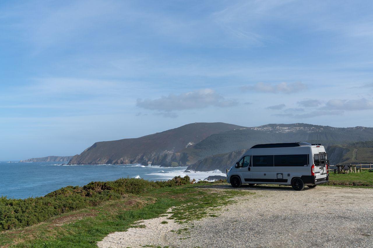 Van in Galicia, Spain
