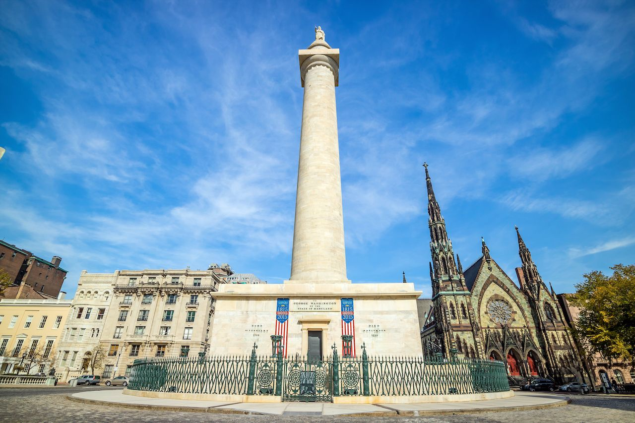 Washington Monument in Baltimore, best attractions