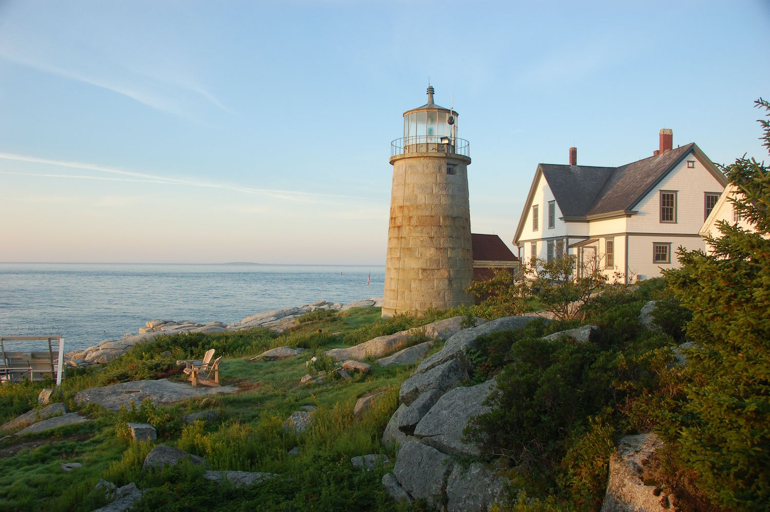 Whitehead light Station, Maine, lighthouses in New England to stay the night in