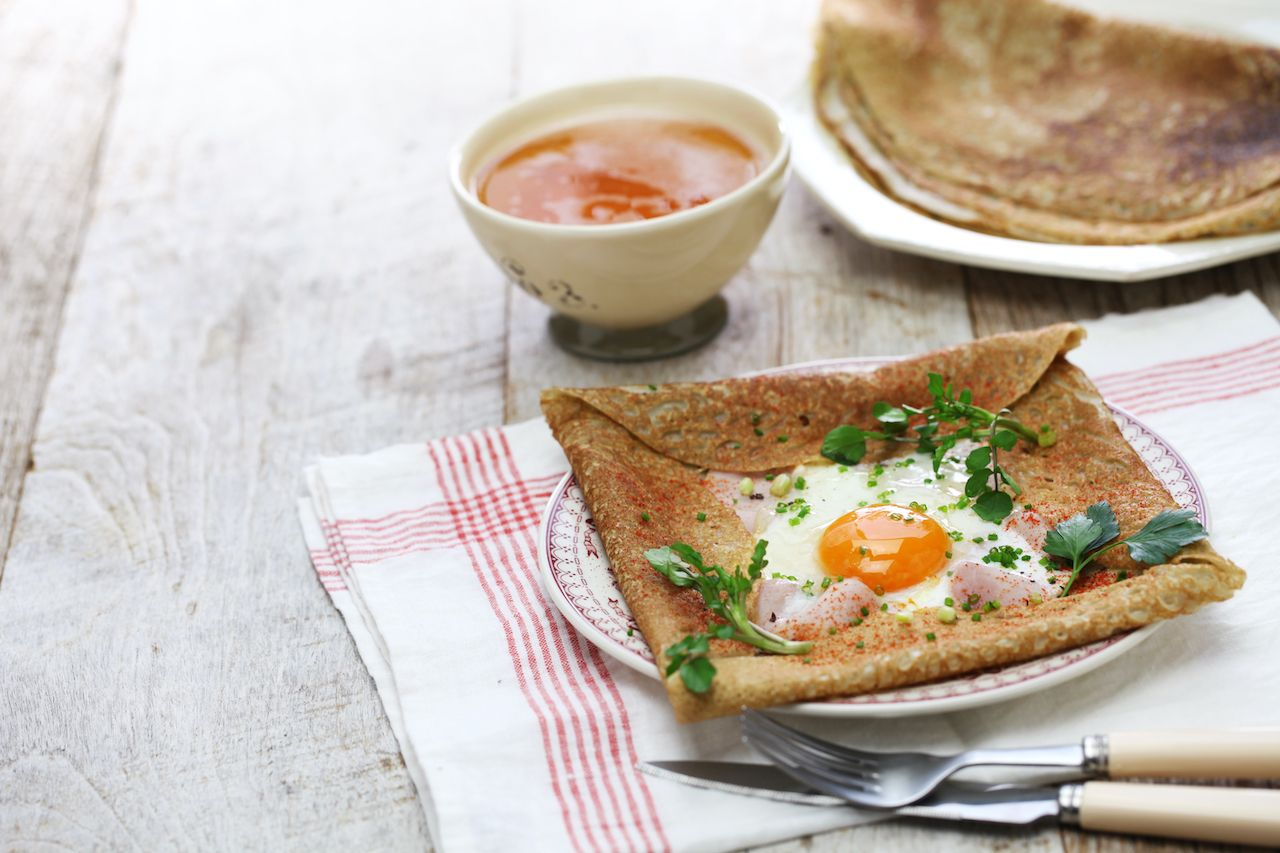 buckwheat crepe from brittan, regional food france