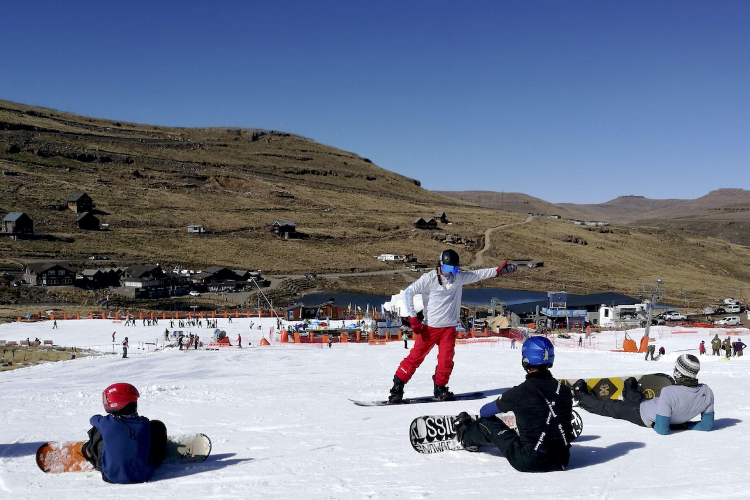snowboarders at afriski