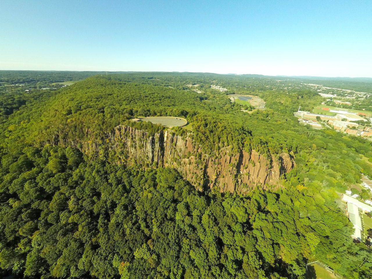 west rock mountain aerial photo