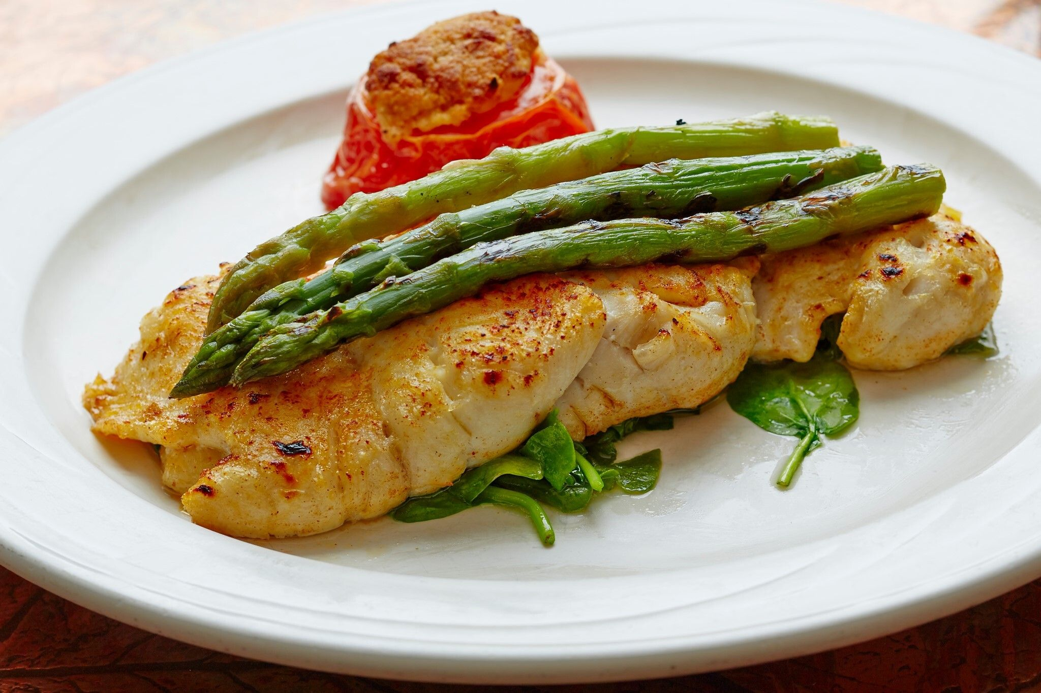 fish and asparagus at all seasons diner, new jersey diners