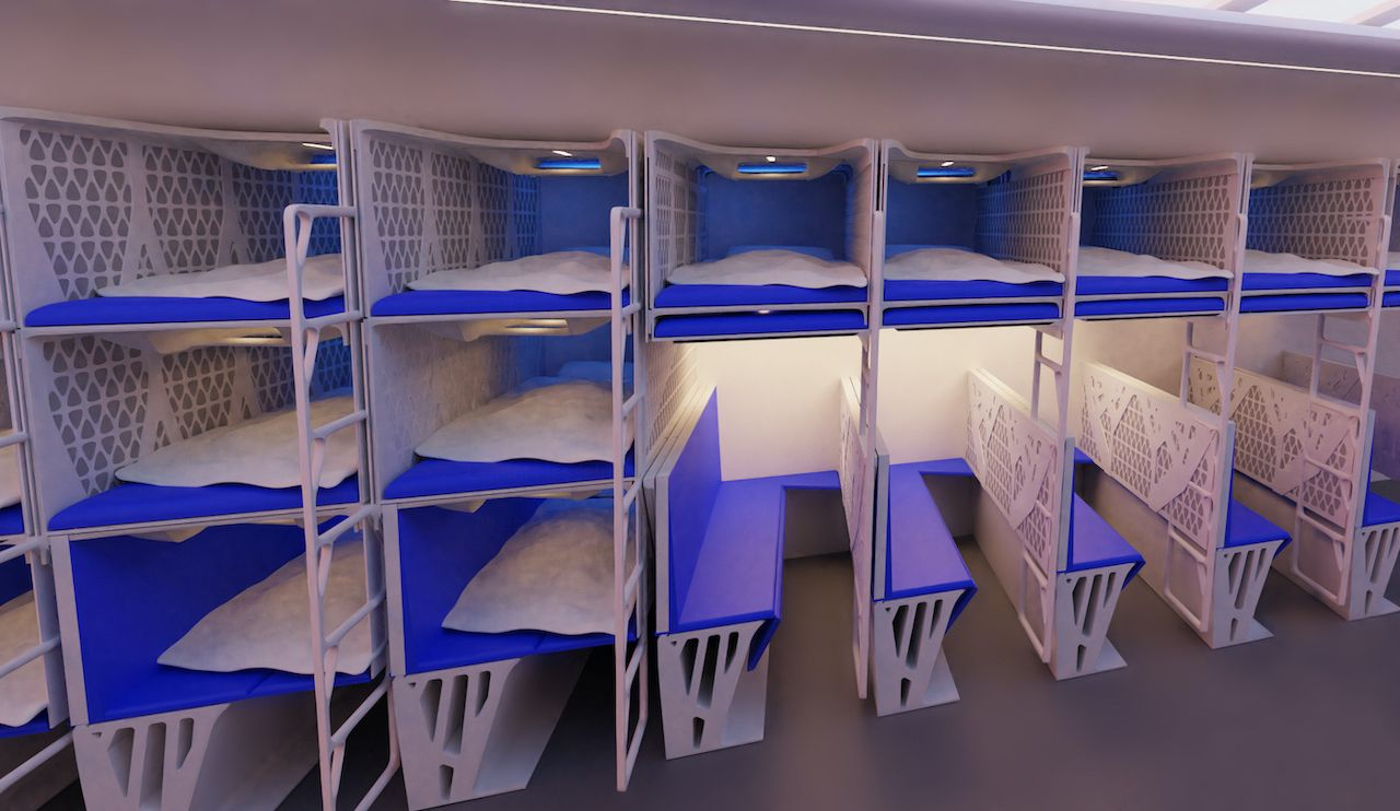Collapsible beds for the Flying V