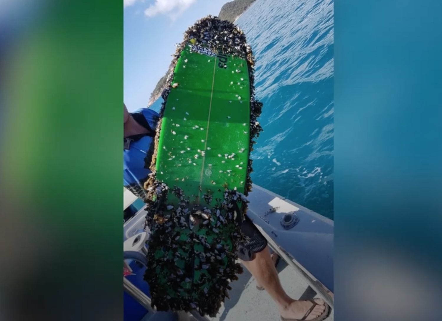 Danny Griffiths surfboard lost at sea