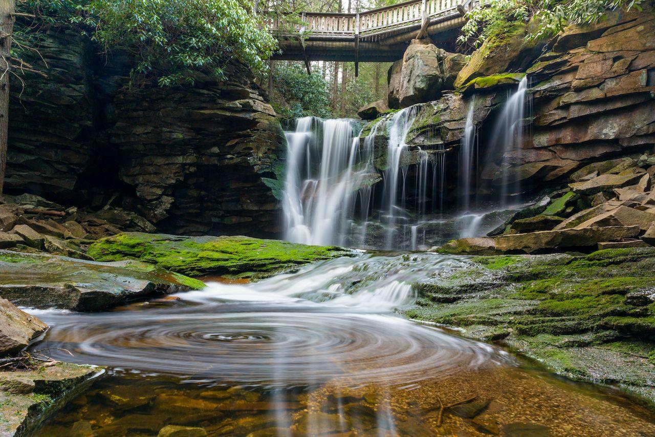 Elakala Falls, Blackwater Falls State Park, west virginia waterfalls