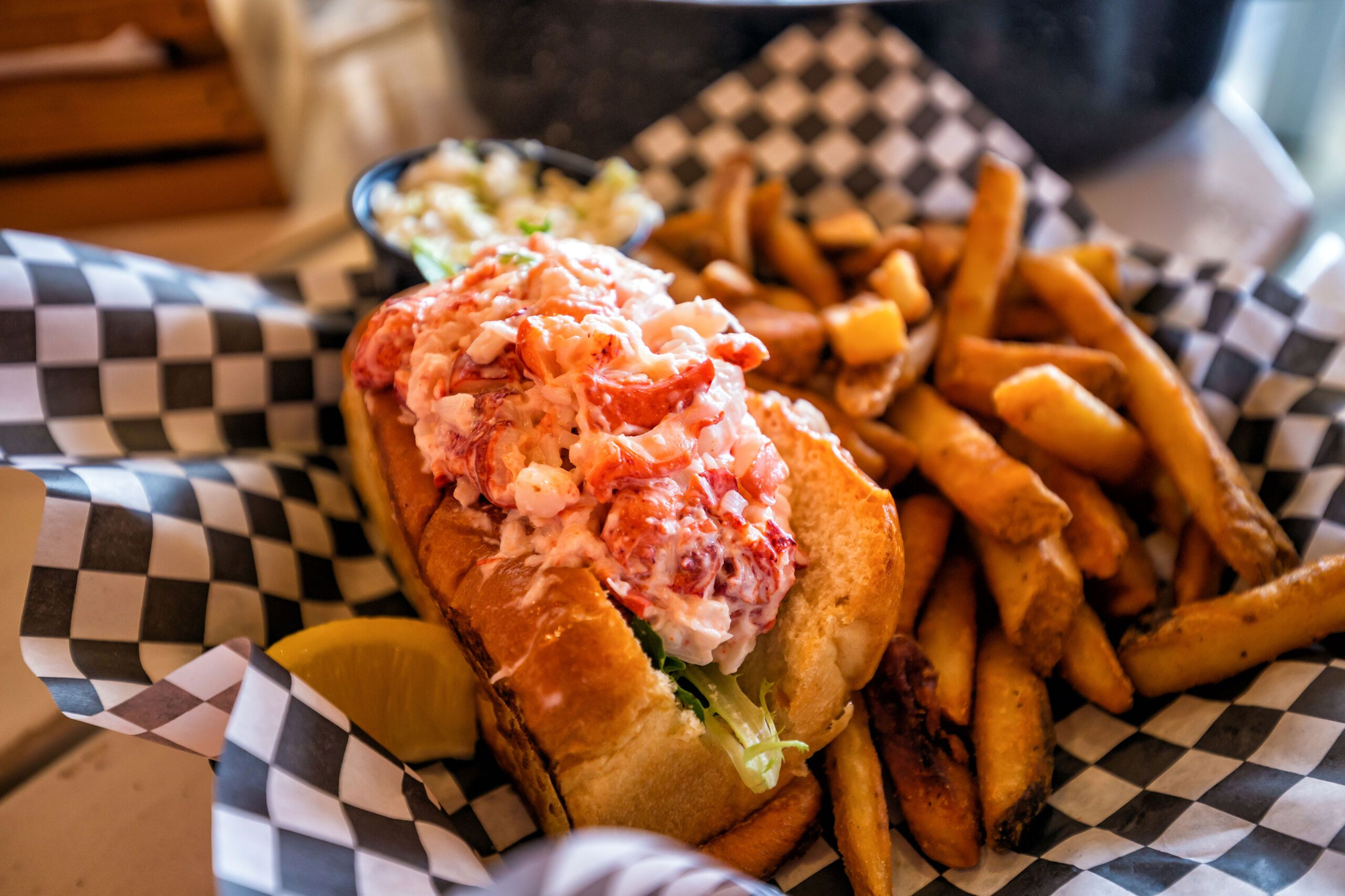 Lobster roll in Portland, Maine