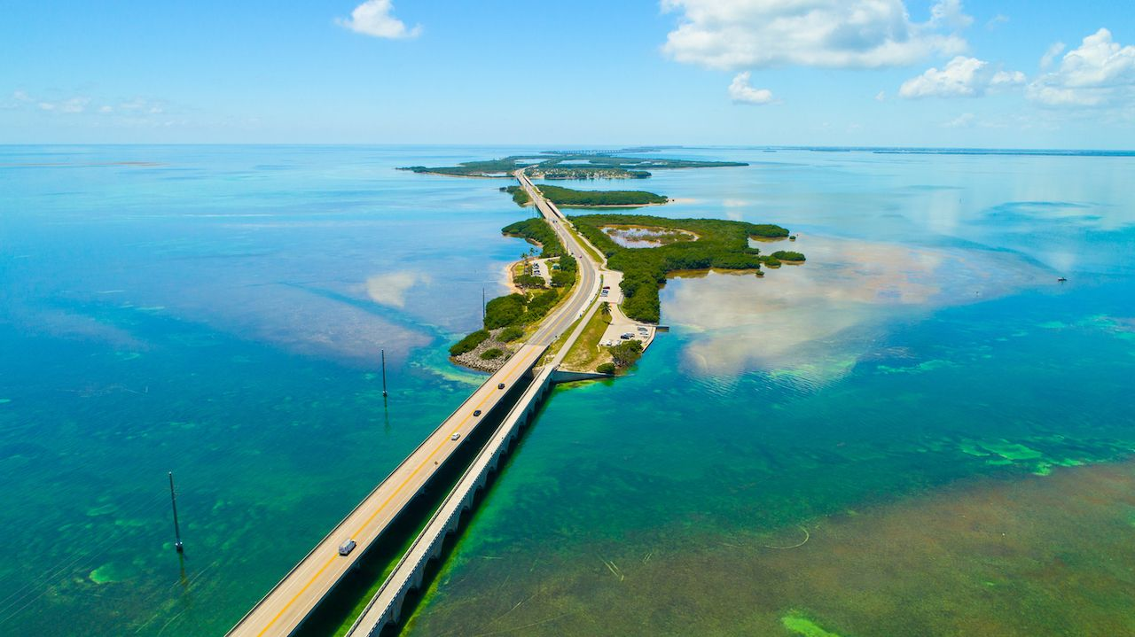 Overseas highway to Key West island, Florida, best states for vanlife