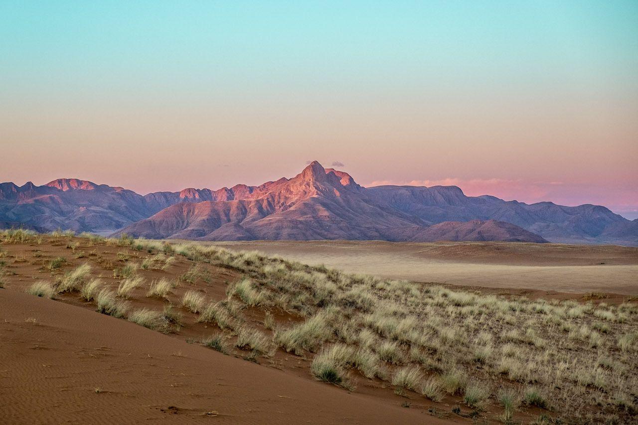 Sunset mountain Namibia