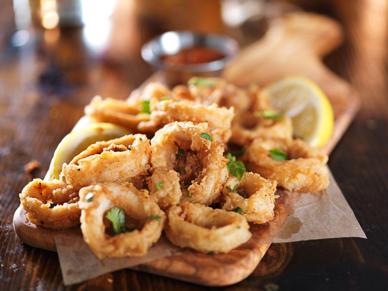 calamari, rhode island seafood