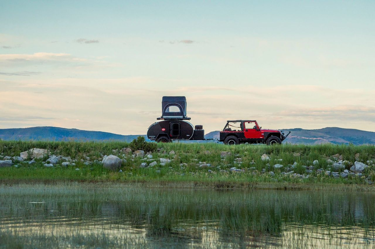 Escapod carried by jeep, Breckenridge Brewery sweepstakes