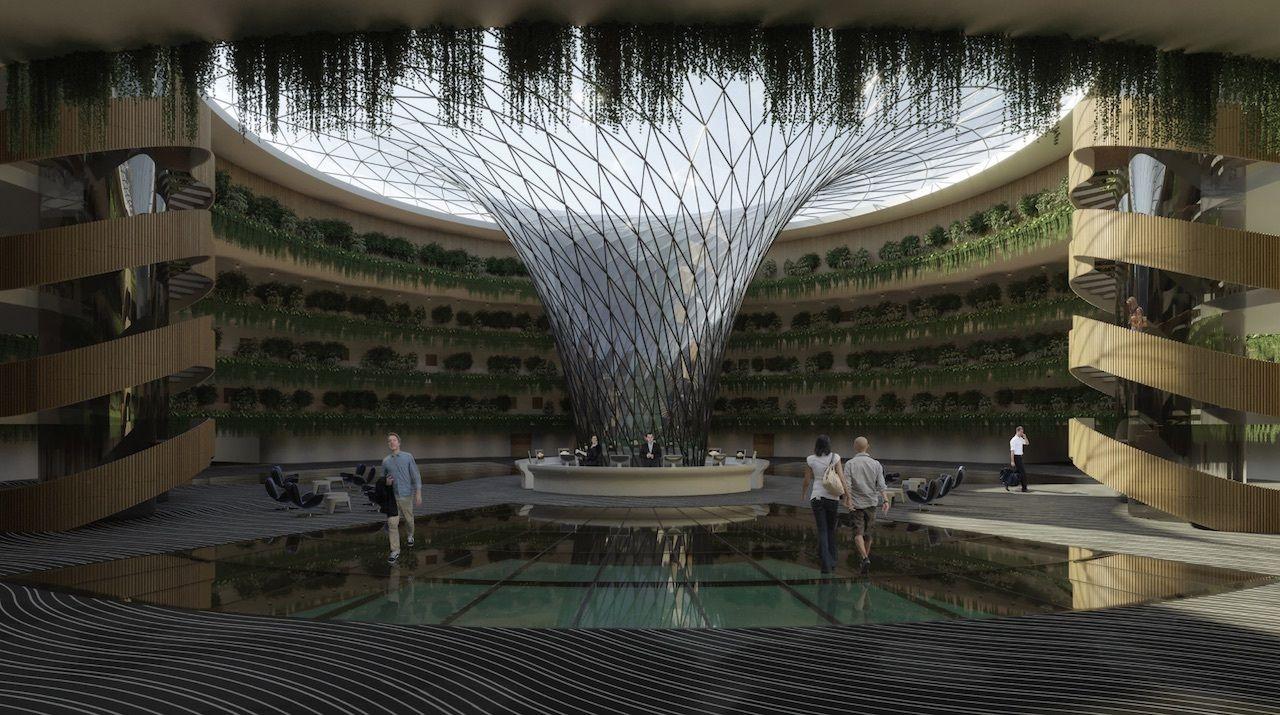 inside floating qatar hotel