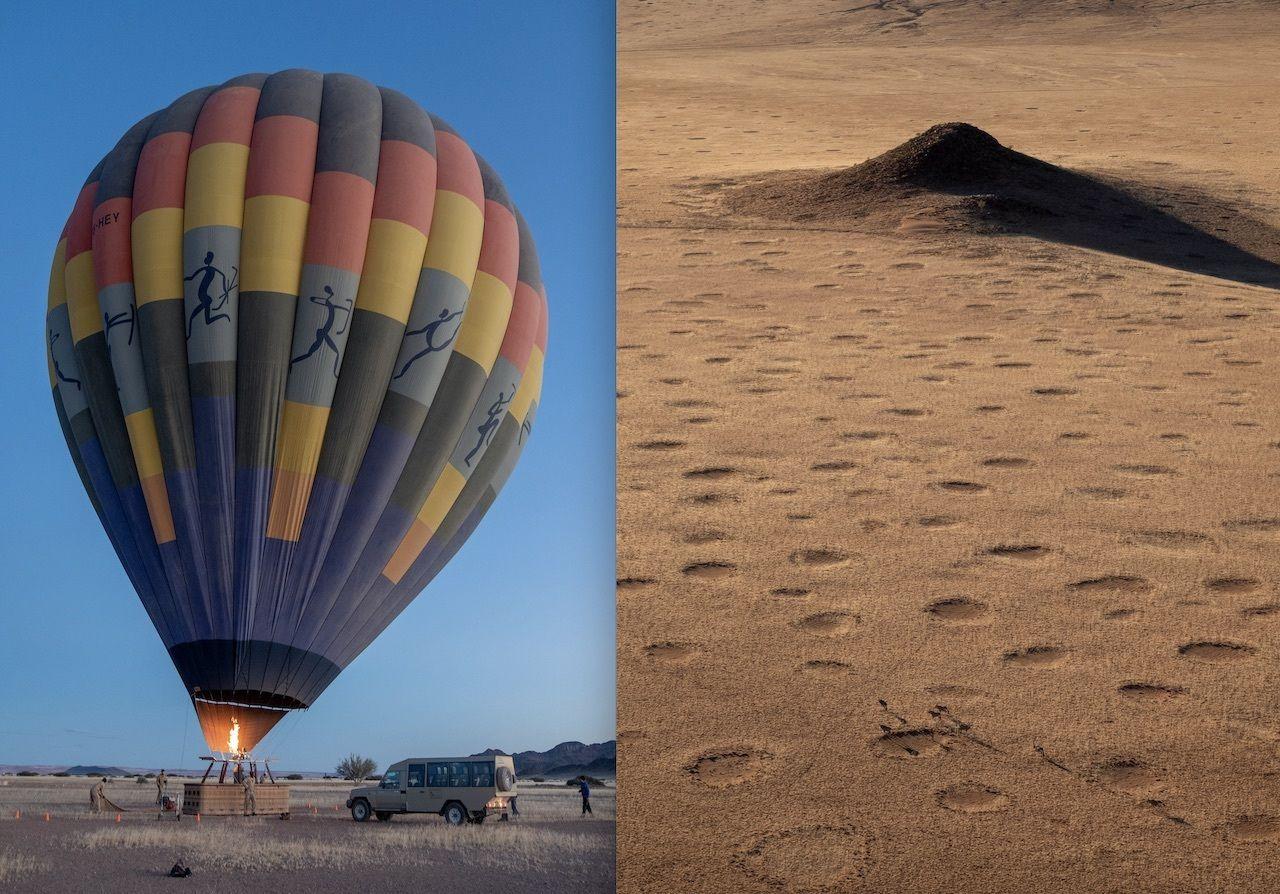 namibia hot air balloon aerial