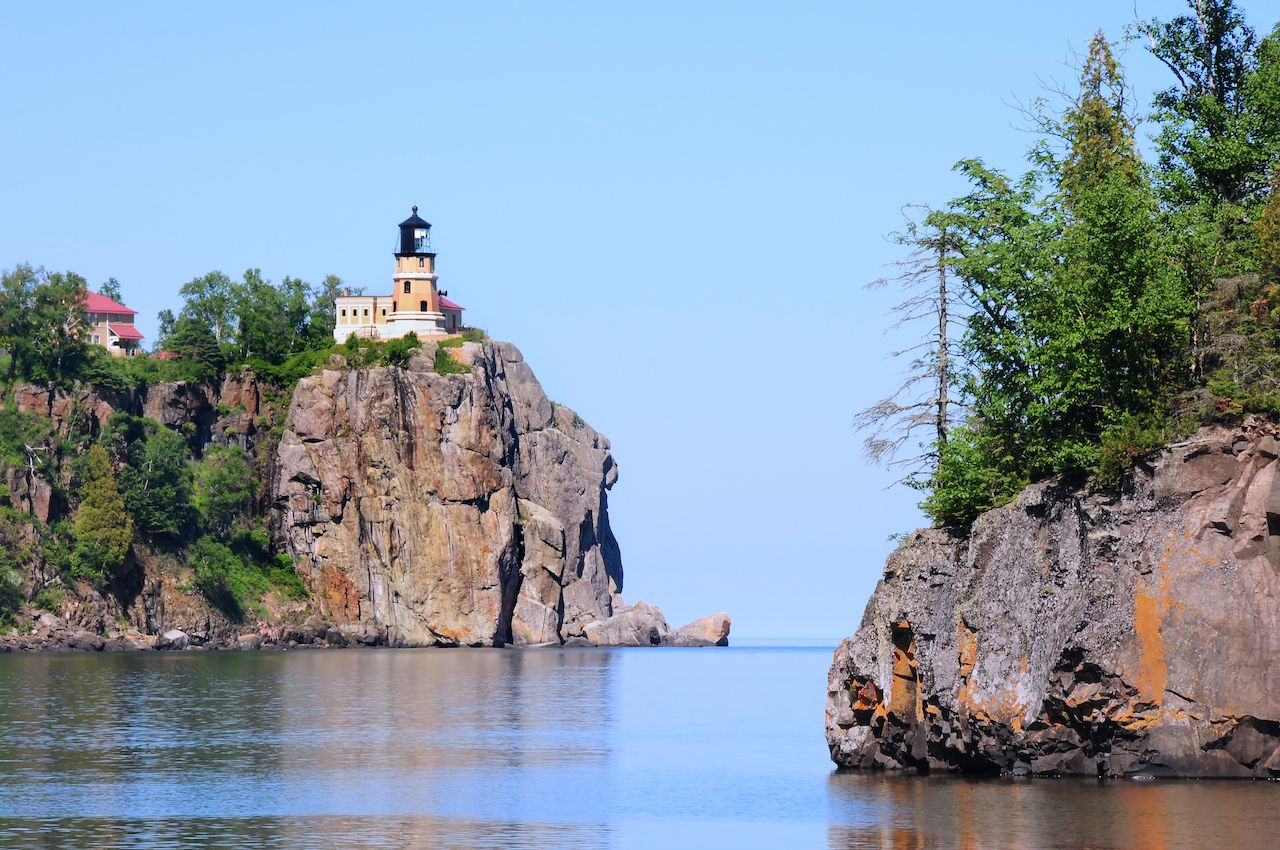 Split Rock Lighthouse on Cliff, outdoors in Duluth