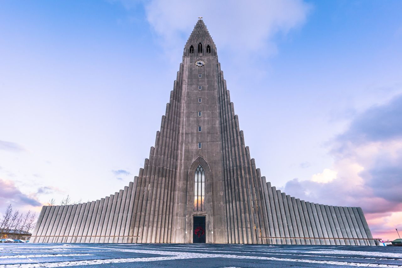 Reykjavik - May 01, 2018: Hallgrimskirkja church in the center of Reykjaivk, Iceland, icelandic culture