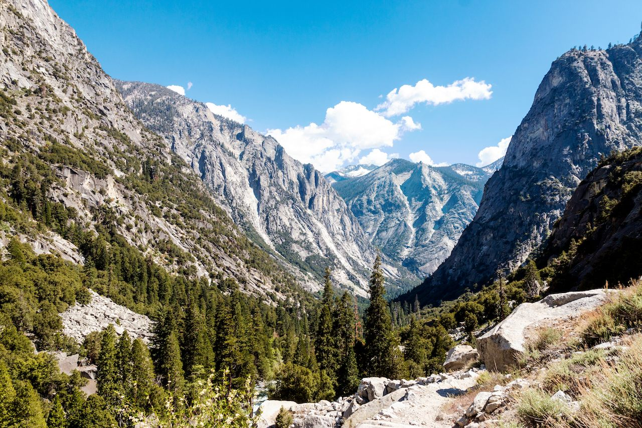 A landscape view of King's Canyon national Park in California, national parks reservation